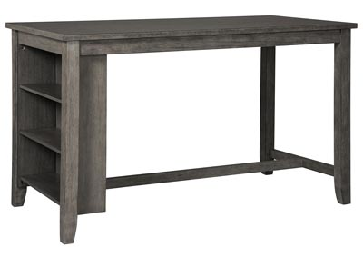 Caitbrook Dark Gray Rectangular Counter Table