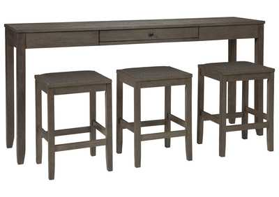 Image for Caitbrook Counter Height Dining Room Table and Bar Stools (Set of 3)