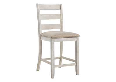 Image for Skempton White/Light Brown Bar Stool (Set of 2)