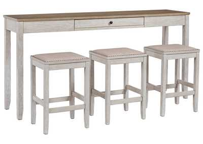 Image for Skempton Counter Height Dining Room Table and Bar Stools (Set of 3)