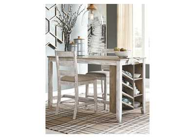 Skempton White Counter Height Dining Table