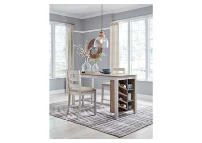 Image for Skempton Rectangular Counter Dining Set w/2 Chairs