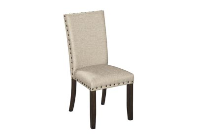 Rokane Light Brown Upholstered Side Chair (Set of 2)