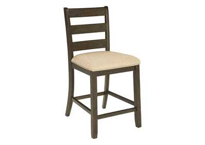 Rokane Brown Upholstered Barstool (Set of 2)