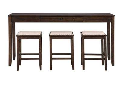 Image for Rokane Light Brown Counter Table Set