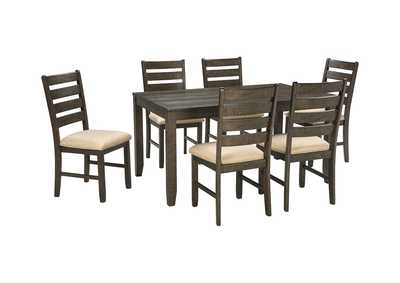 Image for Rokane Brown 7-Piece Dining Room Table Set