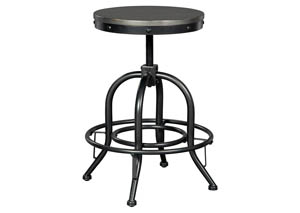 Minnona Aged Steel Swivel Stool (Set of 2)