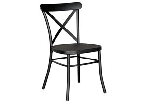 Minnona Black Dining Side Chair (Set of 2)