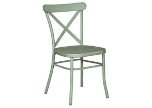 Minnona Light Green Dining Side Chair (Set of 2)