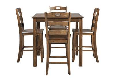Hazelteen Brown Square Counter Table Set