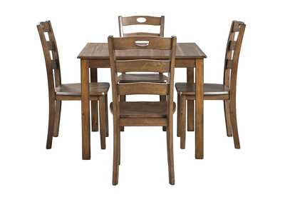 Hazelteen Brown Square Dining Room Set