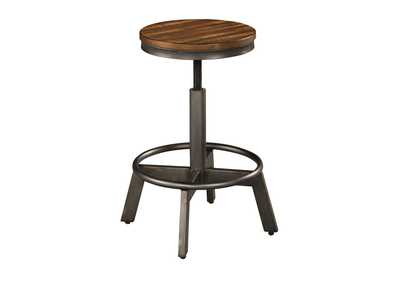 2 Torjin Two-tone Brown Adjustable Stools
