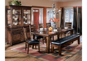 Larchmont Rectangular Extension Table w/4 Side Chairs