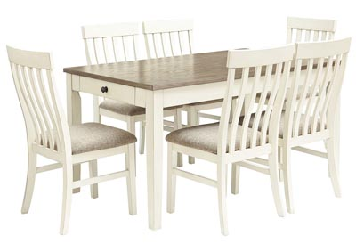 Bardilyn Dining Table w/6 Side Chairs