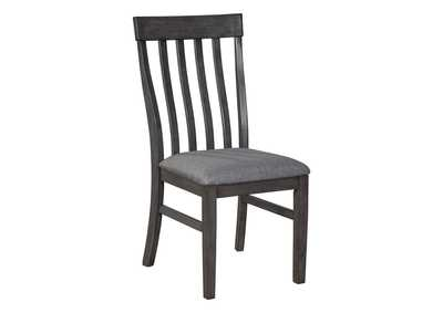 Luvoni Charcoal Dining Chair (Set of 2)