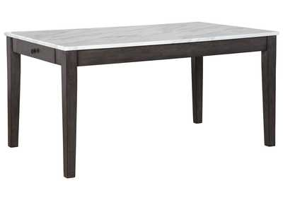 Image for Luvoni White/Dark Charcoal Gray Dining Table