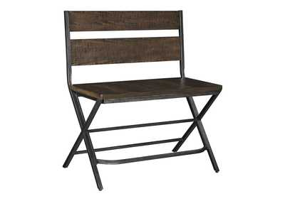 Image for Kavara Medium Brown Double Barstool