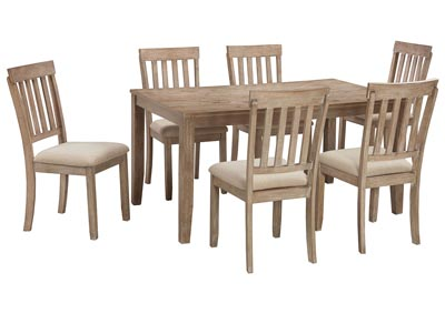 Blystone Two-tone Dining Room Table Set