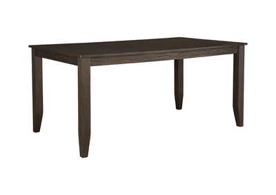 Image for Dresbar Grayish Brown Rectangular Dining Room Table