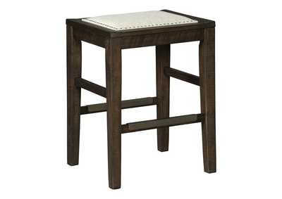 Hallishaw Dark Brown Bar Stool,Signature Design By Ashley