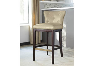 Canidelli Medium Brown Tall Upholstered Barstool (Set of 2)