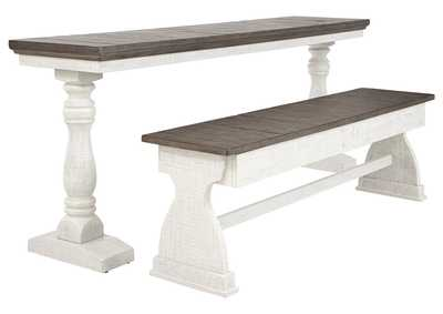 Image for Braelow Two-Tone Dining Table and Bench (Set of 2)