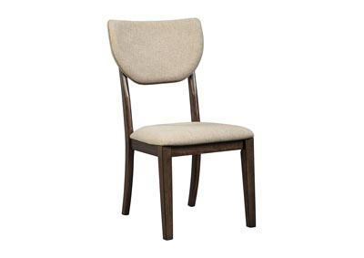 Joshton Dark Brown Dining Upholstered Side Chair (Set of 2)