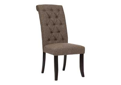 Tripton Medium Brown Dining Upholstered Side Chair (Set of 2),Signature Design By Ashley