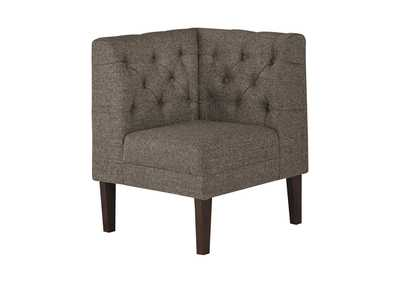 Image for Tripton Medium Brown Corner Upholstered Bench