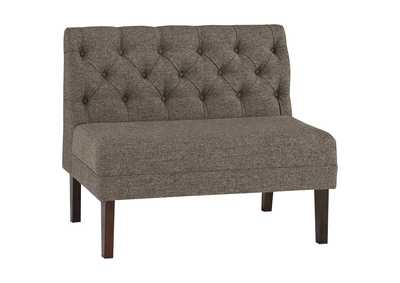 Tripton Medium Brown Large Upholstered Dining Room Bench