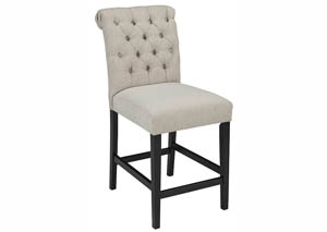 Tripton Medium Brown Upholstered Barstools (Set of 2)