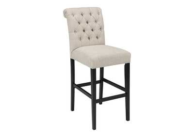 Image for Tripton Medium Linen Tall Upholstered Barstool (Set of 2)