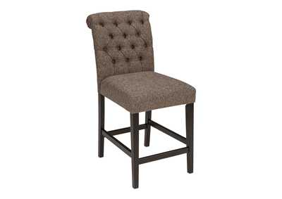 Image for Tripton Medium Brown Upholstered Barstool (Set of 2)
