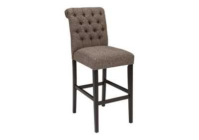 Image for Tripton Medium Brown Tall Upholstered Barstool (Set of 2)