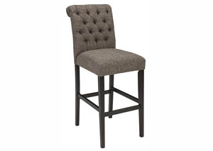 Tripton Medium Brown Tall Upholstered Barstool (Set of 2)