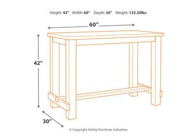 Drewing Brown Bar Height Table
