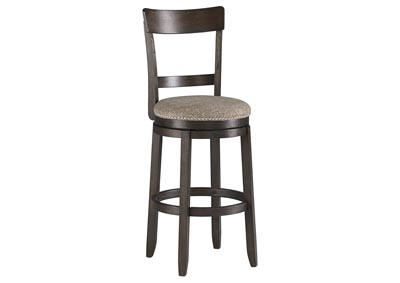 Drewing Brown Upholstered Barstool (Set of 2)
