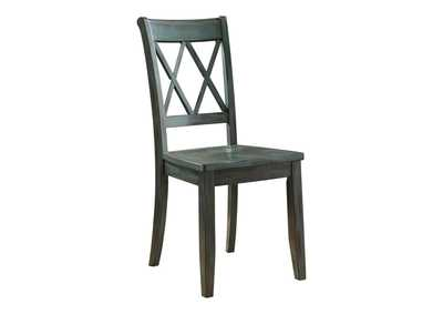 Image for Mestler Antique Blue Side Chair (Set of 2)
