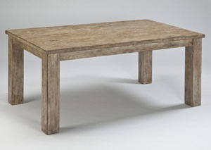 Mestler Washed Brown Rectangular Dining Table