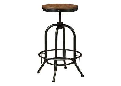 Image for Pinnadel Light Brown Tall Swivel Stool (Set of 2)