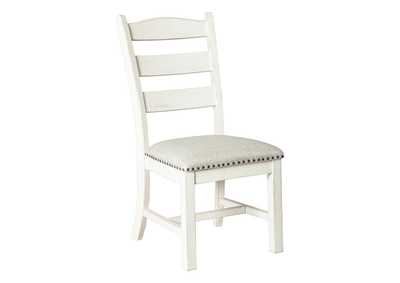 Valebeck Beige/White Dining Chair (Set of 2)