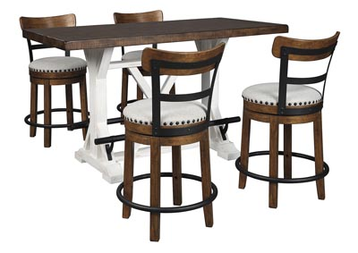 Image for Valebeck Brown Counter Height Dining Table w/4 Backed Brown Barstools