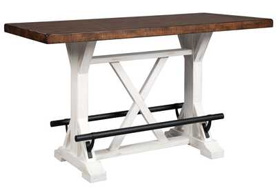 Image for Valebeck White/Brown Counter Table