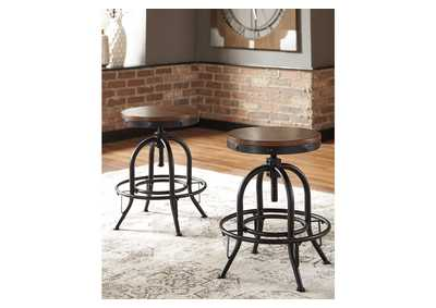 Valebeck Brown Counter Height Bar Stool (Set of 2)
