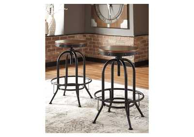 Valebeck Brown Bar Height Bar Stool (Set of 2)