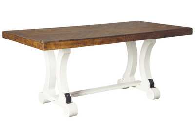 Valebeck White/Brown Dining Table