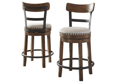 Valebeck Brown Counter Height Bar Stool