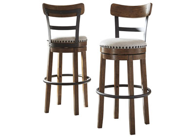 Valebeck Brown Bar Height Bar Stool