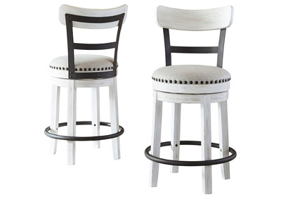 Valebeck White Counter Height Bar Stool (Set of 2)