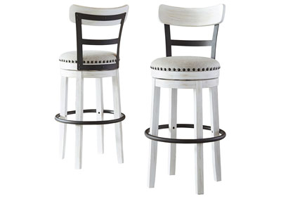 Valebeck White Bar Height Bar Stool (Set of 2)